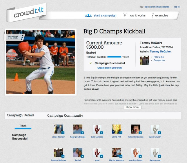 crowdtilt campaign example